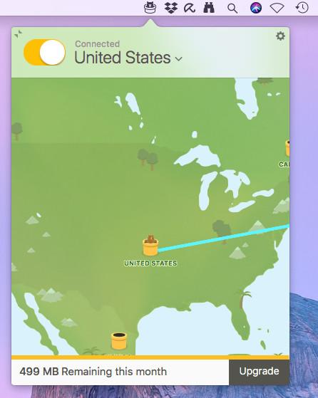 Screenshot 1 - TunnelBear (Mac)