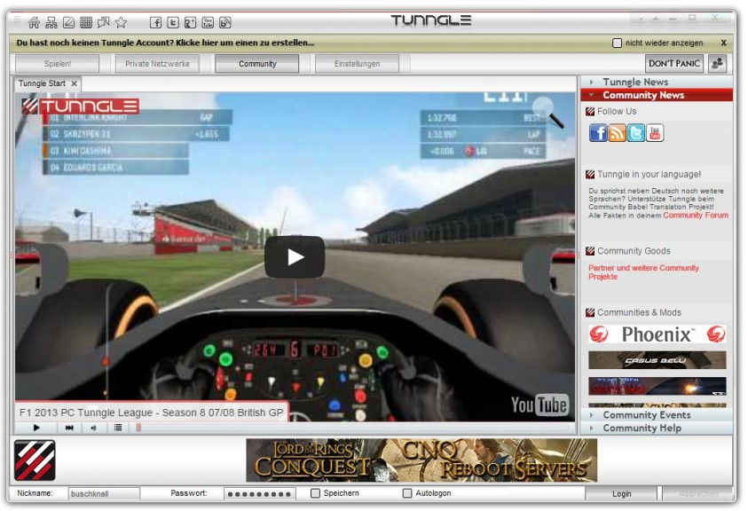 Screenshot 1 - Tunngle