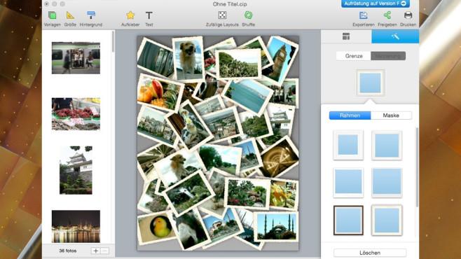 Collage It: Kreativ-Tool ohne Entscheidungspflicht ©COMPUTER BILD