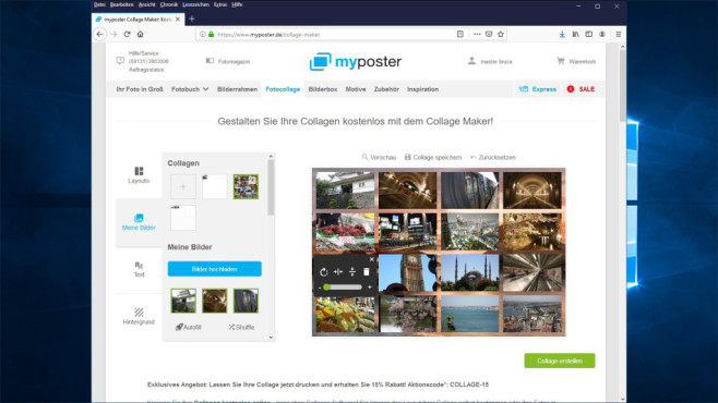 Collage Maker: Web-App für Fotocollagen © COMPUTER BILD