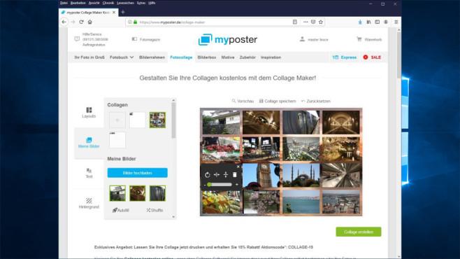 Collage Maker: Web-App für Fotocollagen ©COMPUTER BILD