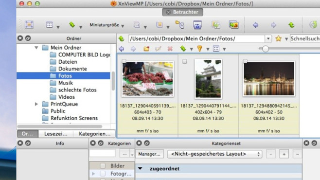 XnViewMP: Komplexere Alternative zu Picasa © COMPUTER BILD