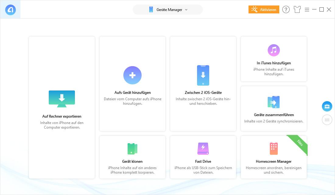 Screenshot 1 - AnyTrans iPhone Manager