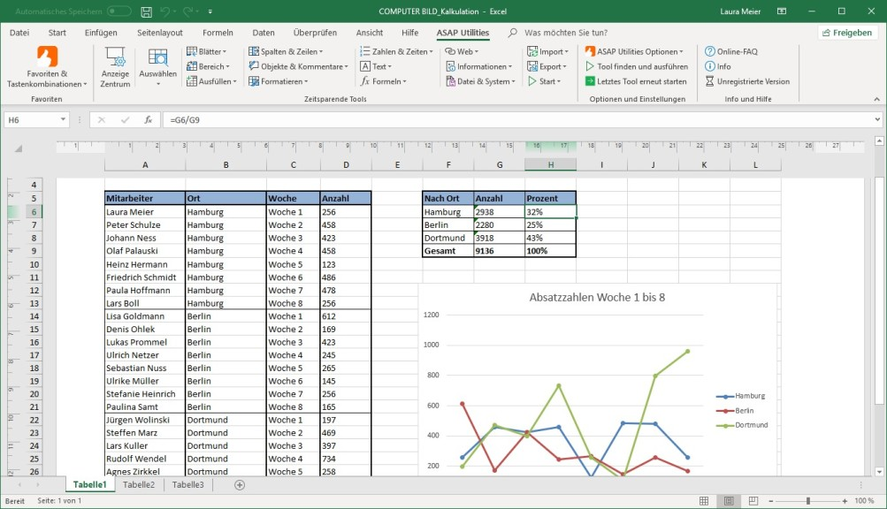 Screenshot 1 - ASAP Utilities