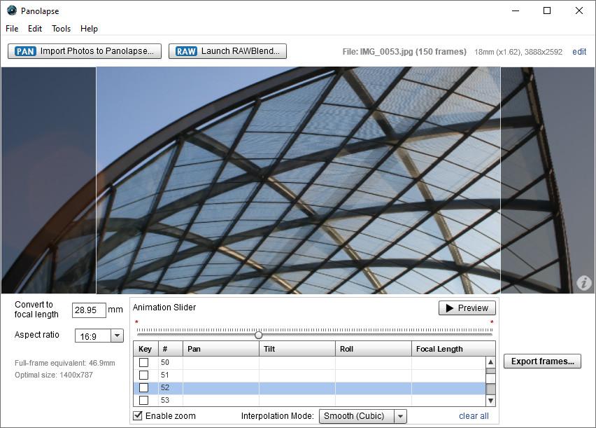 Screenshot 1 - Panolapse