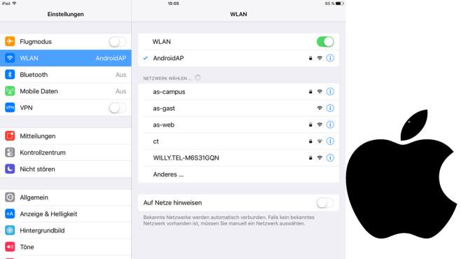 iPad mit dem Hotspot verbinden ©COMPUTER BILD