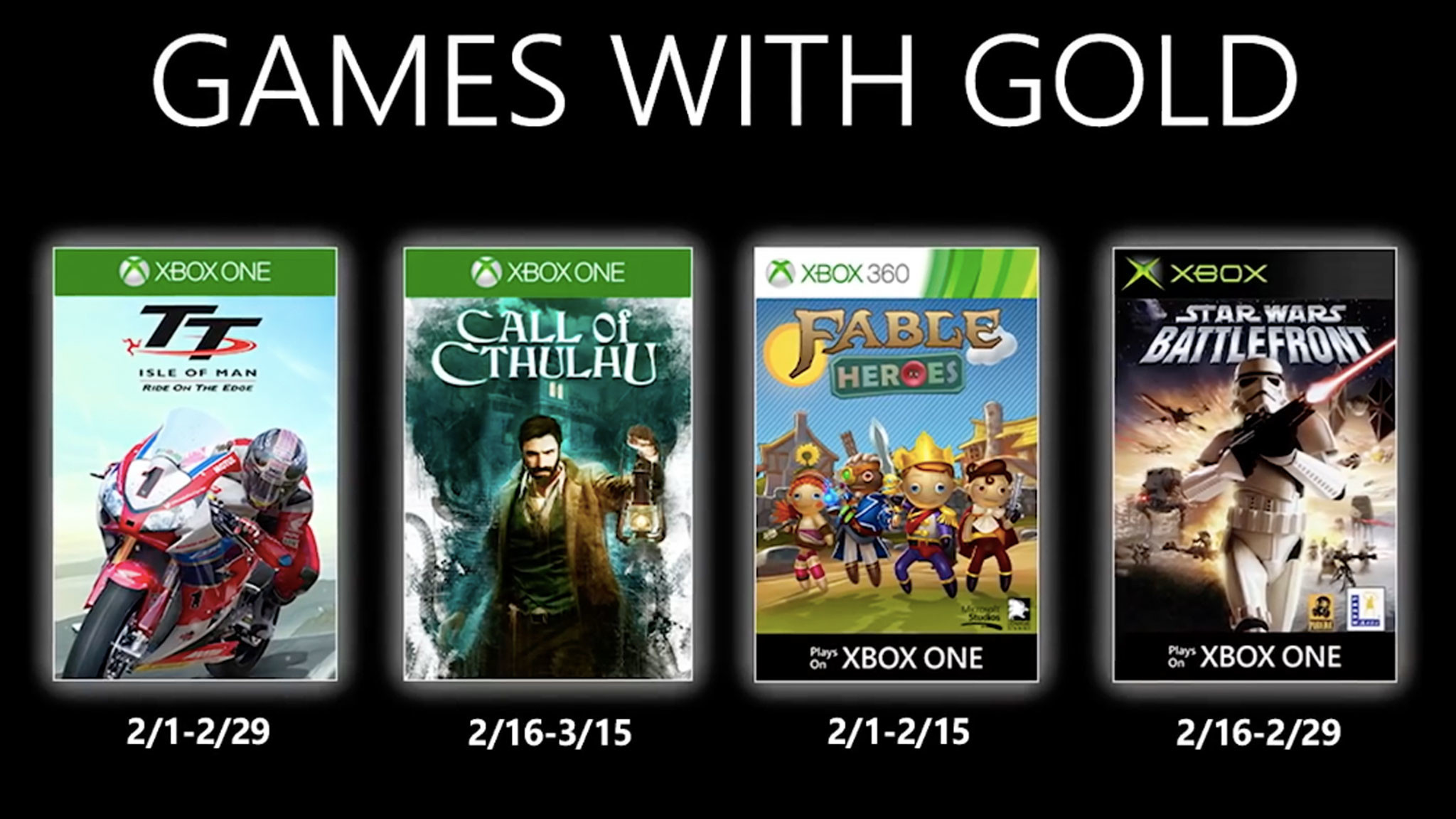 Games With Gold Februar
