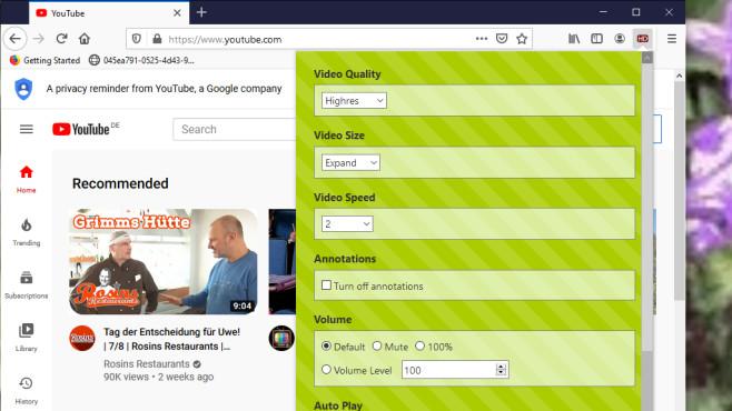 YouTube High Definition für Firefox: Videos in höherer Qualität ansehen ©COMPUTER BILD