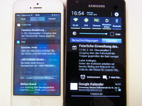 iOS 7 vs. Android 4.2.2 © COMPUTER BILD