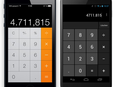 iOS 7 vs. Android 4.2. © COMPUTER BILD