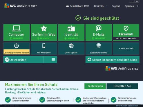 AVG Antivirus Free 2013 ©COMPUTER BILD