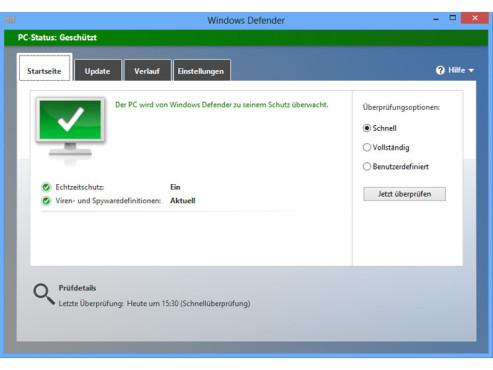 Microsoft Windows Defender ©COMPUTER BILD