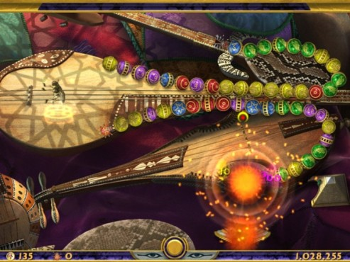 Screenshot Minigame Luxor – Quest for the Afterlife ©Intenium