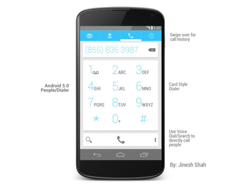 Android 5.0 Design-Entwurf ©Jinesh Shah