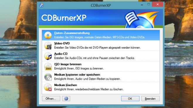 CDBurnerXP: Dateien auf CD/DVD sichern ©COMPUTER BILD