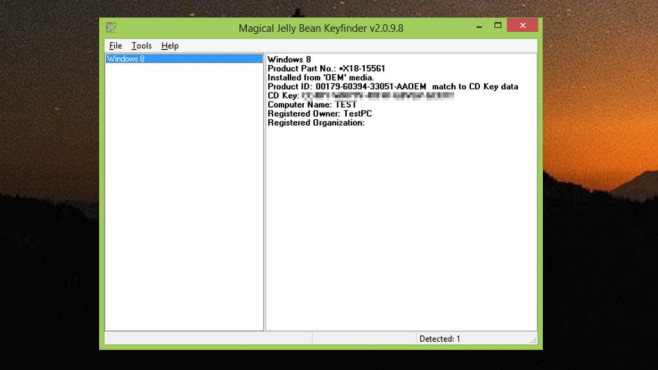 Magical Jelly Bean Keyfinder: Seriennummern von Programmen sichern ©COMPUTER BILD