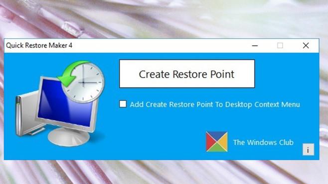 Quick Restore Maker: Wiederherstellungspunkte anlegen ©COMPUTER BILD
