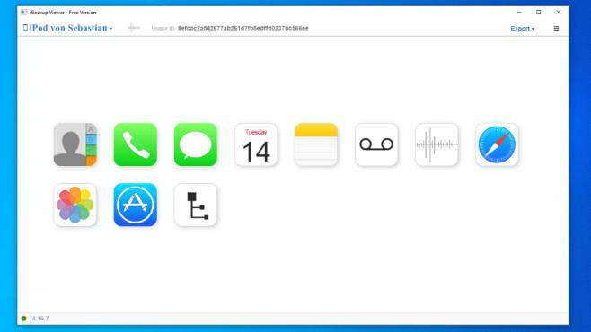 iBackup Viewer: iOS-/-iTunes-Datensicherungen einsehen ©COMPUTER BILD