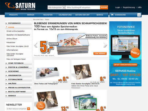 Screenshot www.saturn.de ©Saturn