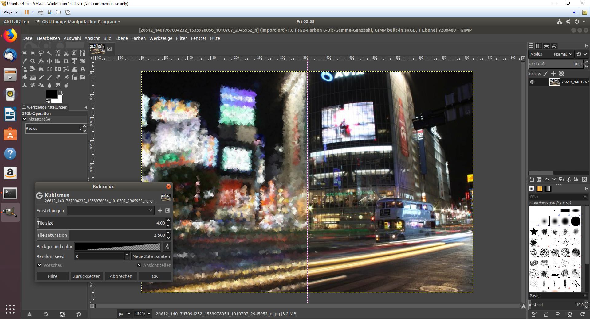 Screenshot 1 - GIMP (Linux)