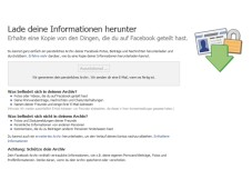 Download Personal Info © Facebook