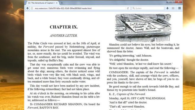EPUBReader für Firefox: Buchdateien im Browser anzeigen ©COMPUTER BILD, Epubbooks.com