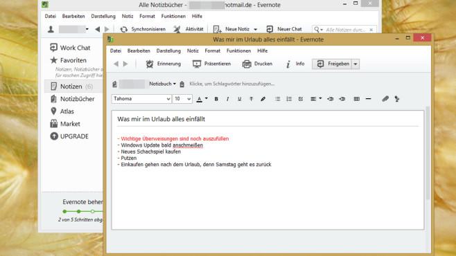 Evernote: Notizprogramm mit Webanbindung ©COMPUTER BILD