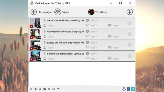 Free YouTube to MP3 Converter: Neue Musik besorgen ©COMPUTER BILD
