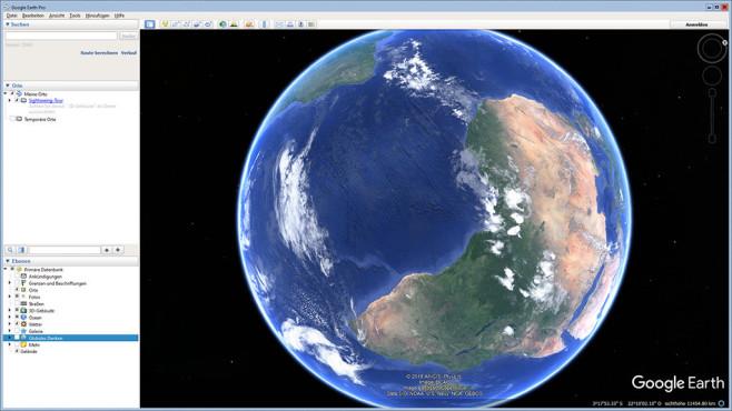 Google Earth Pro - Kostenlose Vollversion: Ortschaften vorab erkunden ©COMPUTER BILD