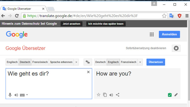 Google Übersetzer (Google Translate): Nachschlagwerk mit Automatik ©COMPUTER BILD