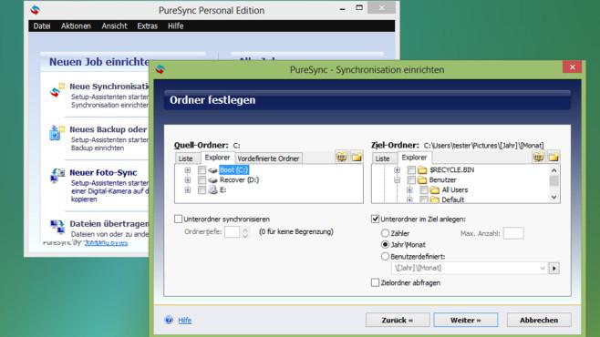 PureSync: Daten vereinheitlichen und sichern ©COMPUTER BILD