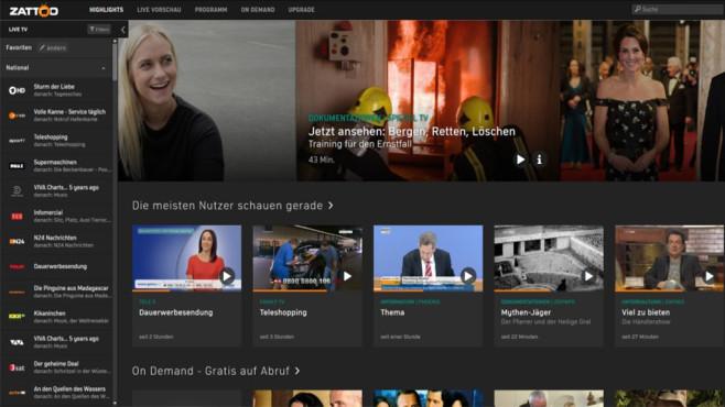 Zattoo: Fernsehen per Internet empfangen ©COMPUTER BILD