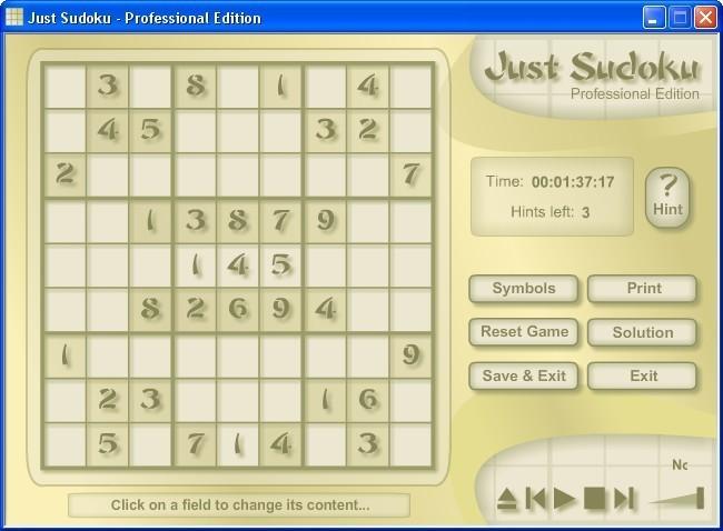 Screenshot 1 - Just Sudoku Professional Edition