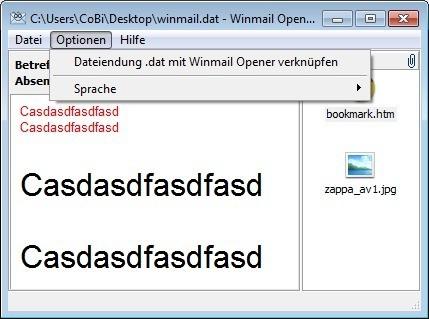 Screenshot 1 - Winmail Opener