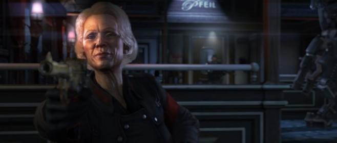 Actionspiel Wolfenstein – The New Order: Frau © Bethesda