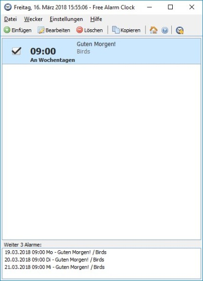 Screenshot 1 - Free Alarm Clock