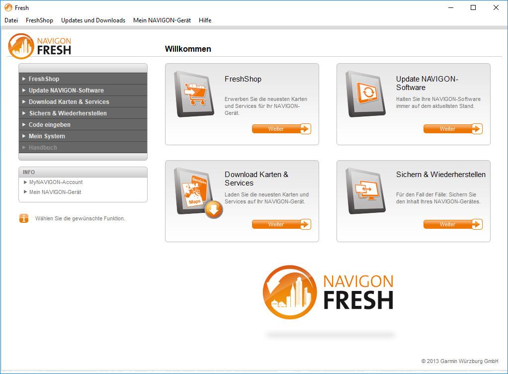 Screenshot 1 - Navigon Fresh