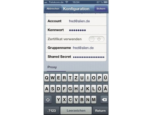 VPN-Verbindung am iPhone einrichten ©COMPUTER BILD