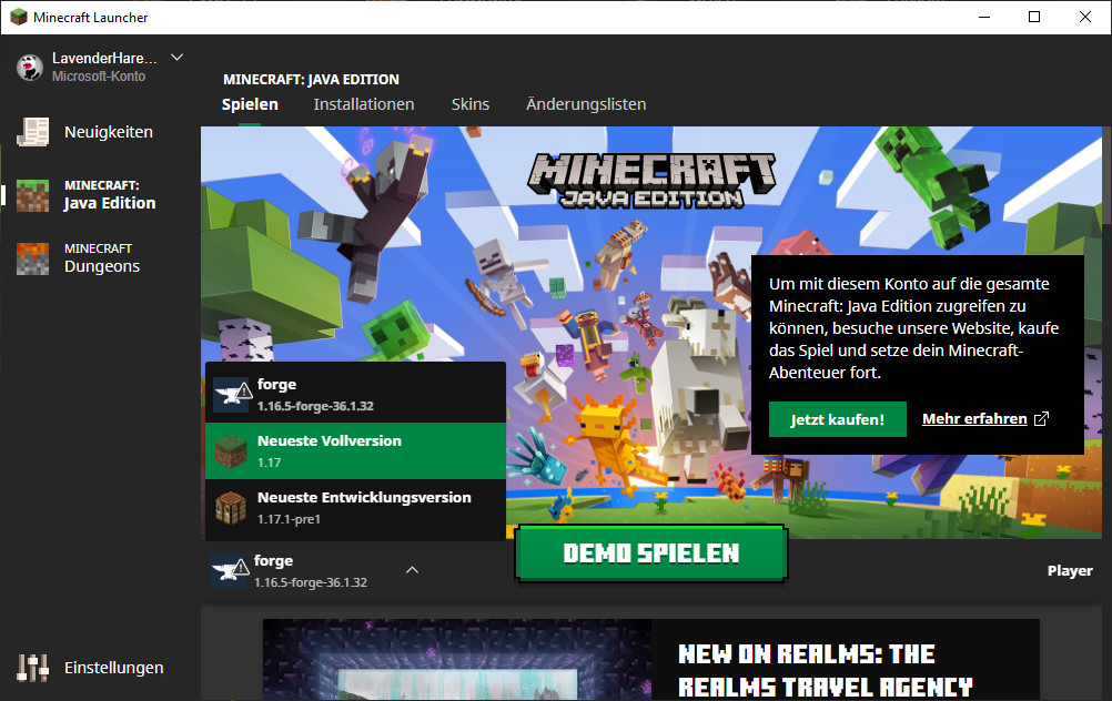 Screenshot 1 - Minecraft Forge