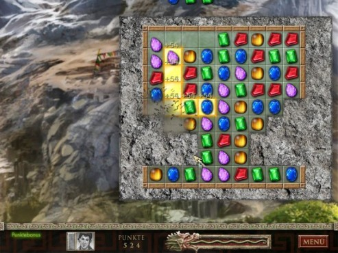 Screenshot Minigame Jewel Quest – The Sapphire Dragon © Intenium