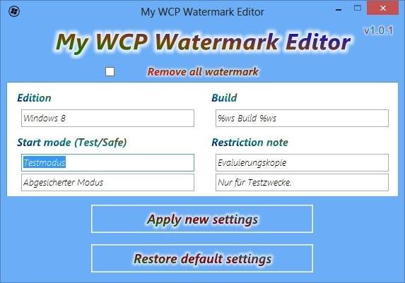 Screenshot 1 - My WCP Watermark Editor