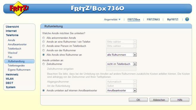 Fritzbox benutzeroberfläche