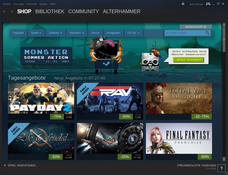 Screenshot 1 - Steam (Linux)