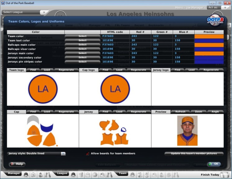 Screenshot 1 - Out of the Park Baseball Free