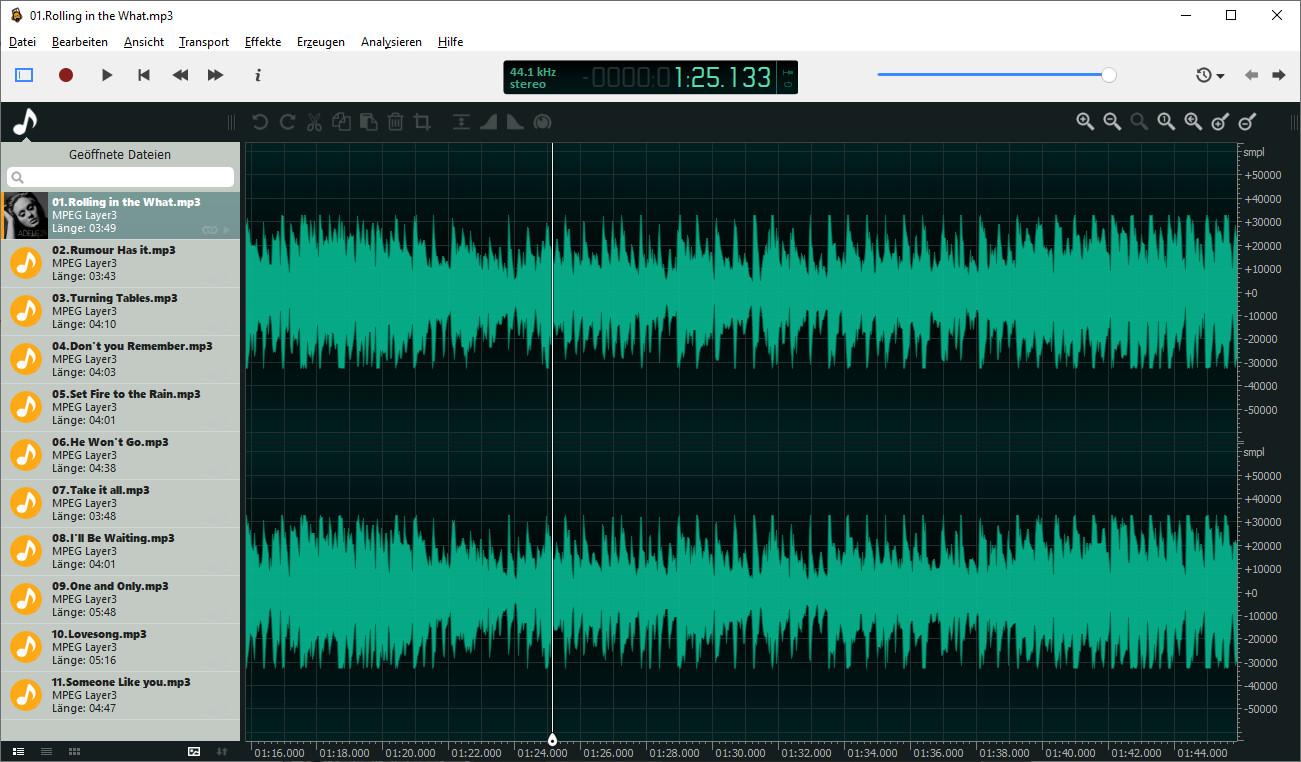 Screenshot 1 - Ocenaudio
