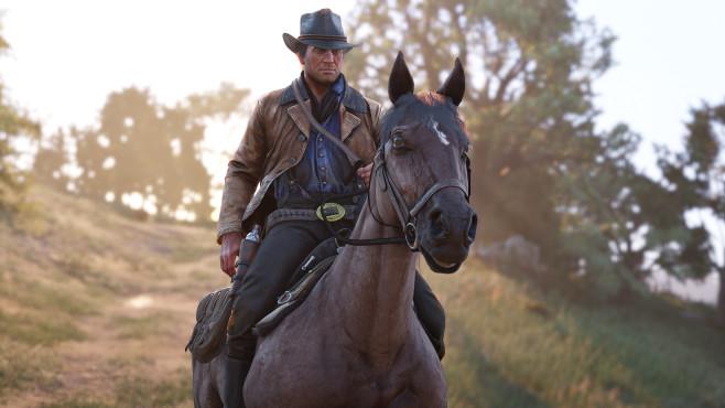 Red Dead Redemption 2 erstmals angespielt: Die Vorschau! Gehen Sie gut mit Ihrem Pferd um, stärkt es Ihre Bindung und wird zum treuen Begleiter.©Rockstar