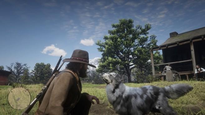 Red Dead Redemption 2 im Test: Aufsatteln und eintauchen Artenvielfalt: Hunde, Pferde und andere Nutztiere runden die Fauna des Spiels ab.©Rockstar Games