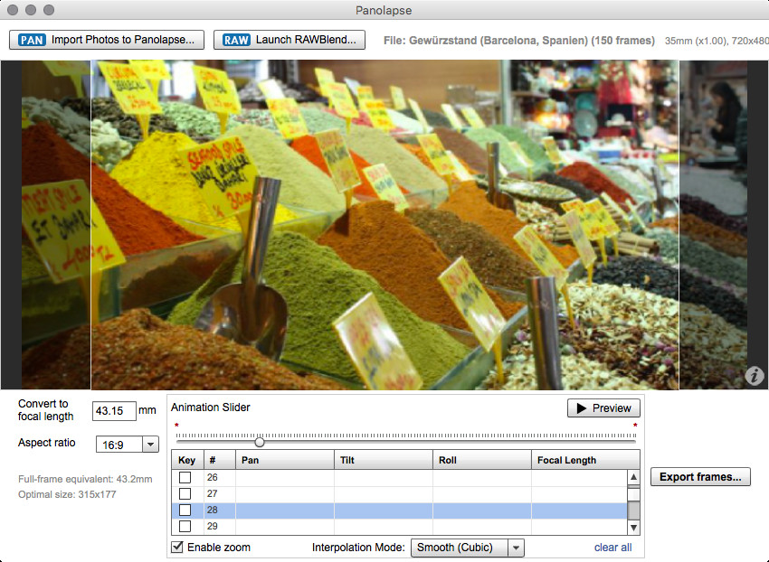 Screenshot 1 - Panolapse (Mac)