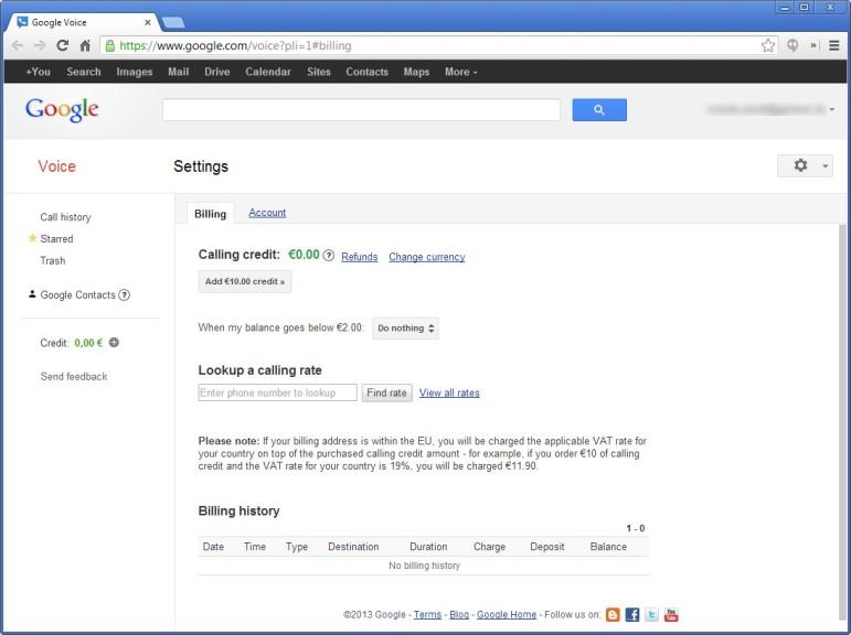 Screenshot 1 - Telefonieren über Google Mail