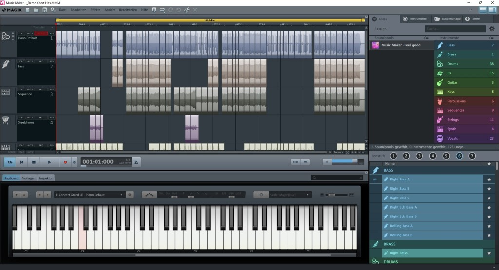 Screenshot 1 - Magix Music Maker Plus
